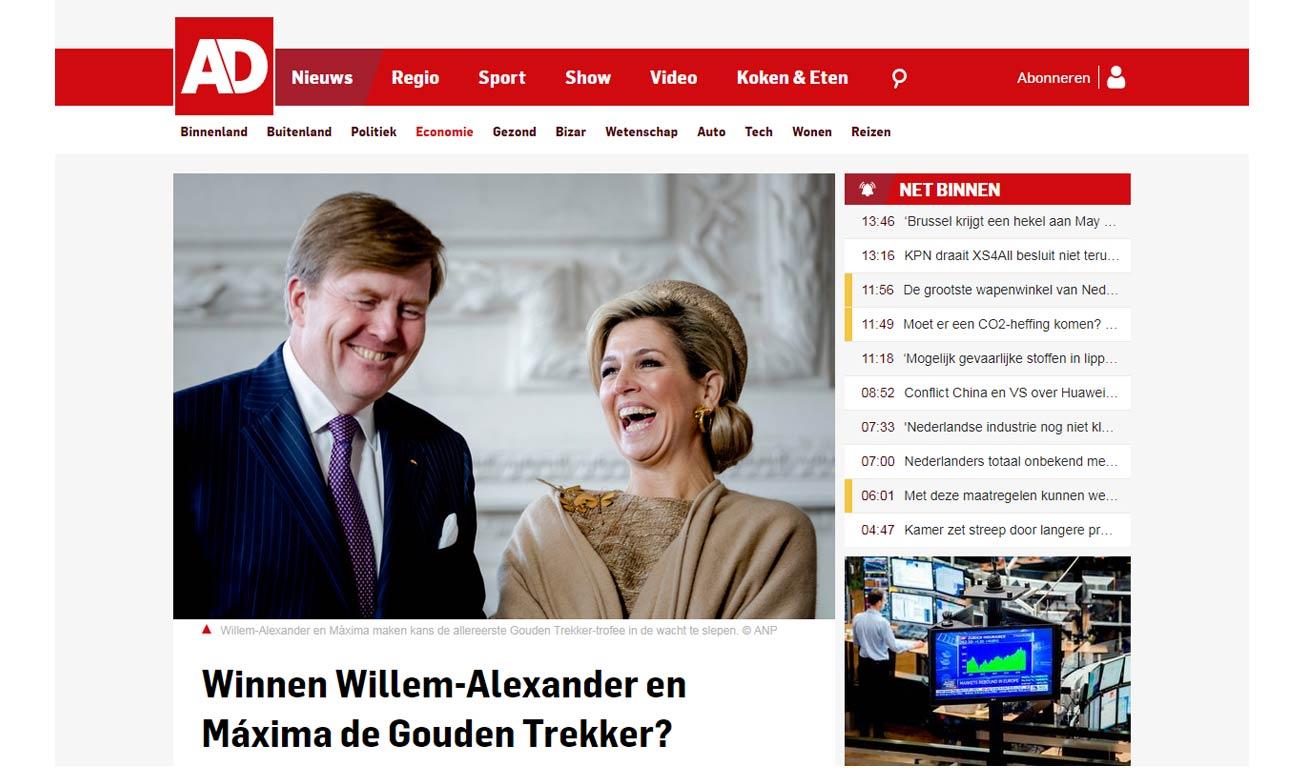 Gouden Trekker in Algemeen Dagblad